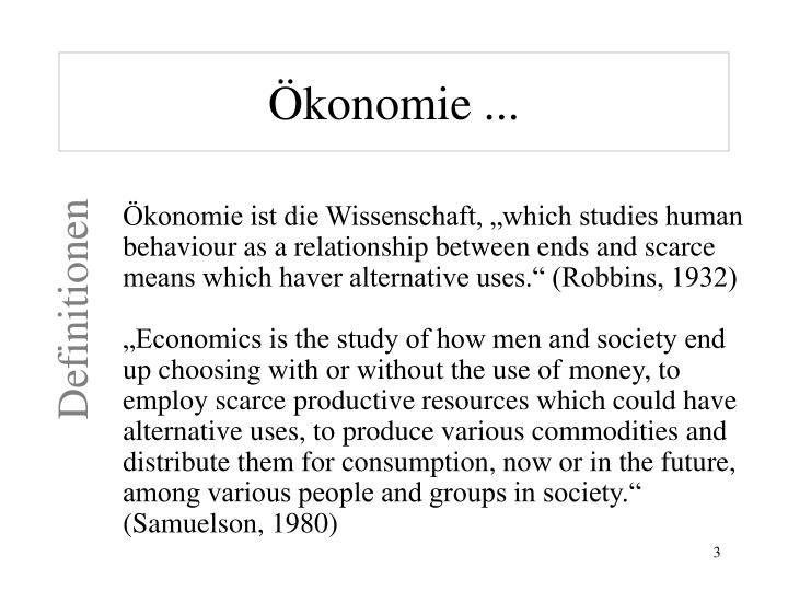 Ökonomie ...
