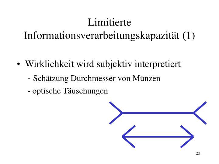 Limitierte Informationsverarbeitungskapazität (1)