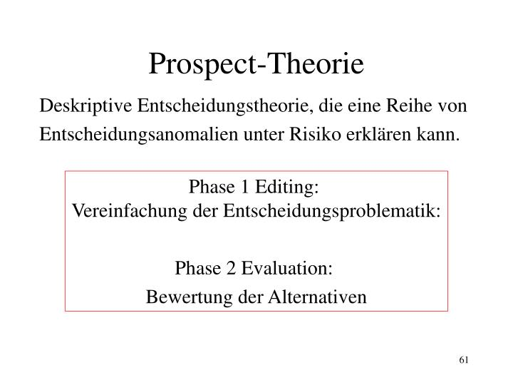 Prospect-Theorie