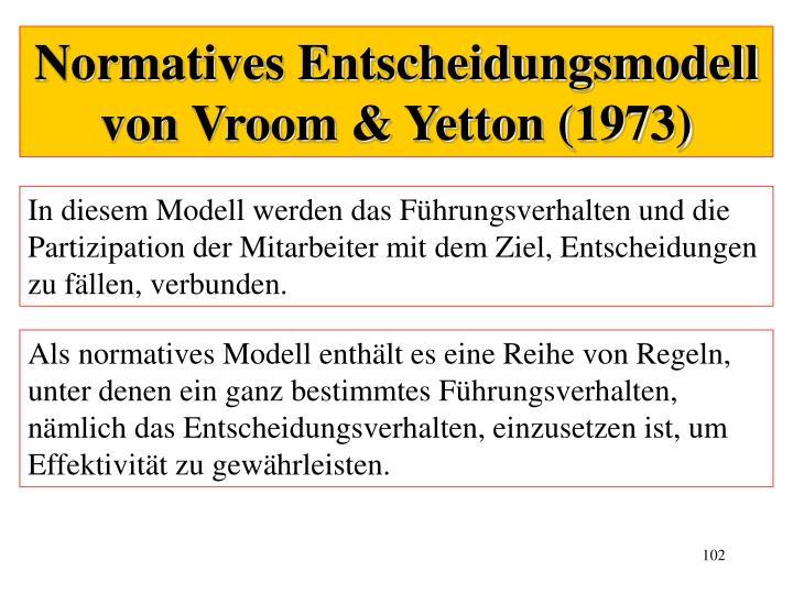 Normatives Entscheidungsmodell von Vroom & Yetton (1973)