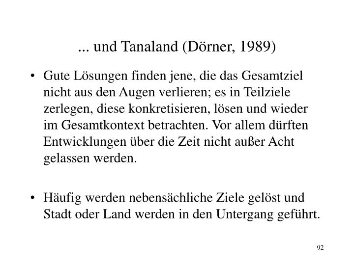 ... und Tanaland (Dörner, 1989)