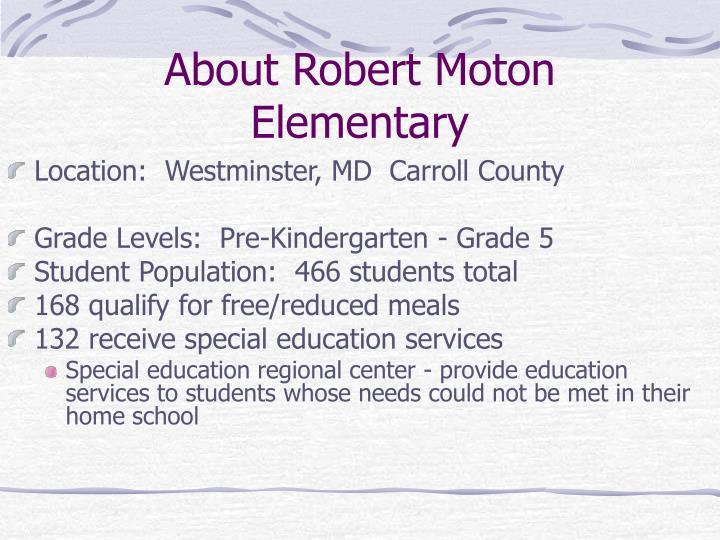 About Robert Moton Elementary