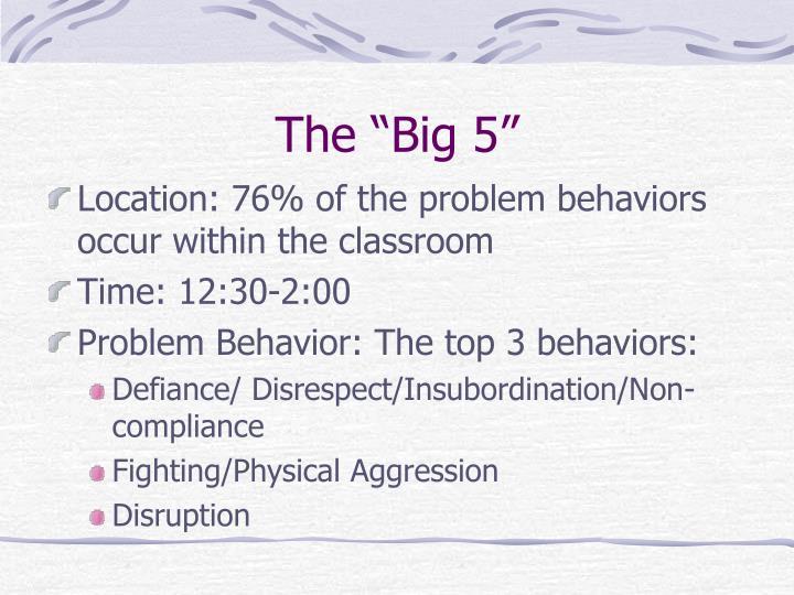 "The ""Big 5"""