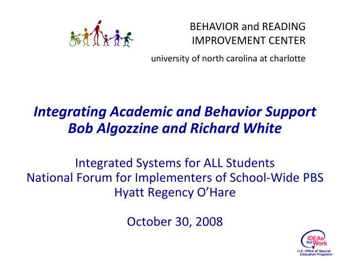 Integrating Academic and Behavior Support