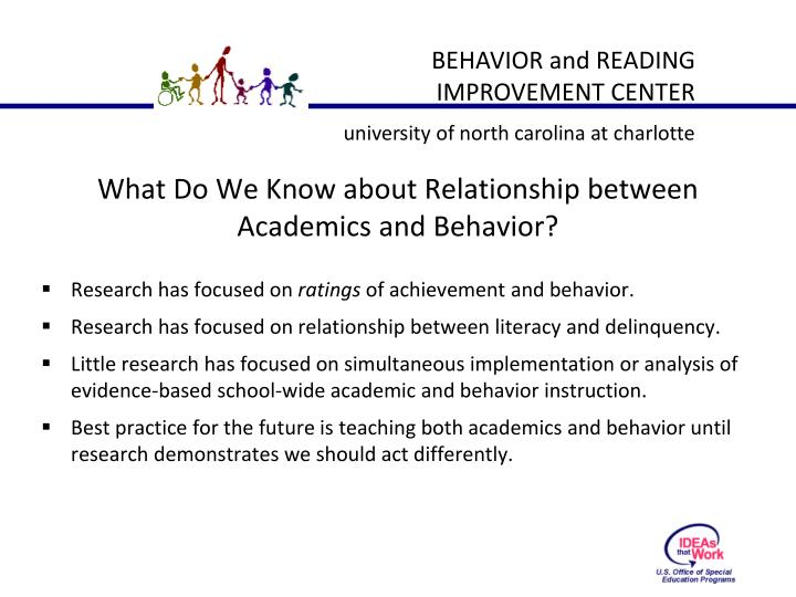 What Do We Know about Relationship between Academics and Behavior?
