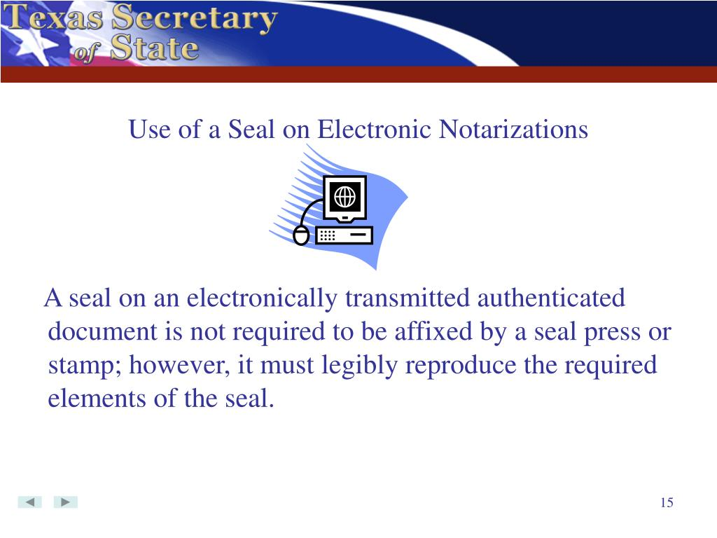 Use of a Seal on Electronic Notarizations