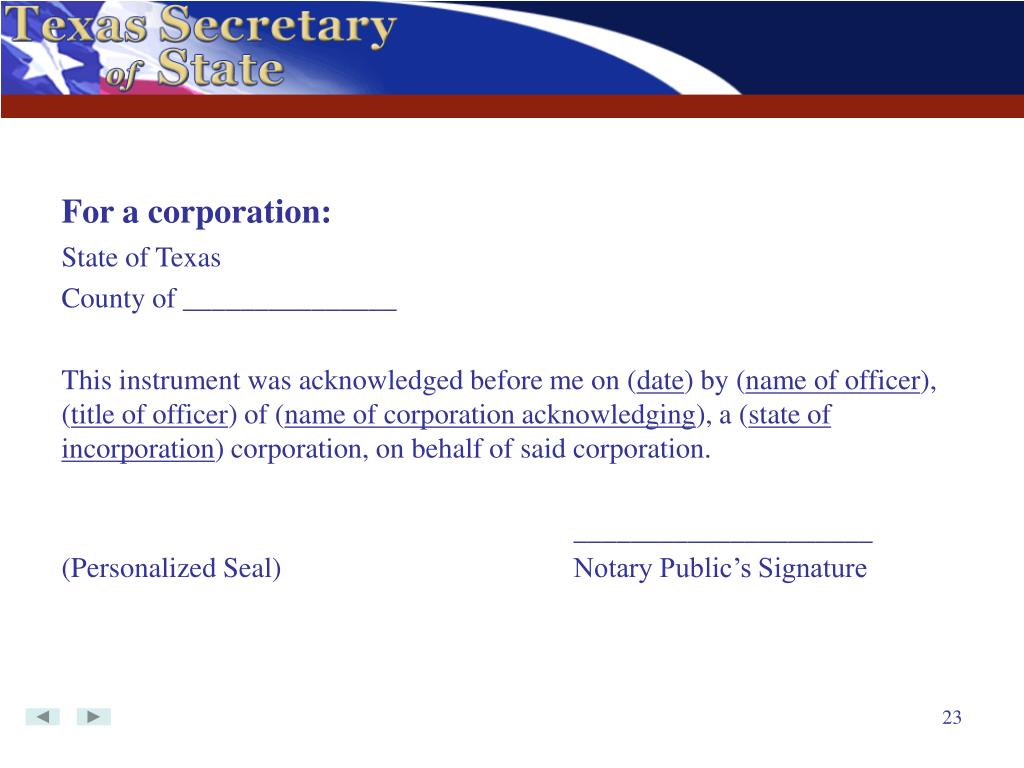 For a corporation: