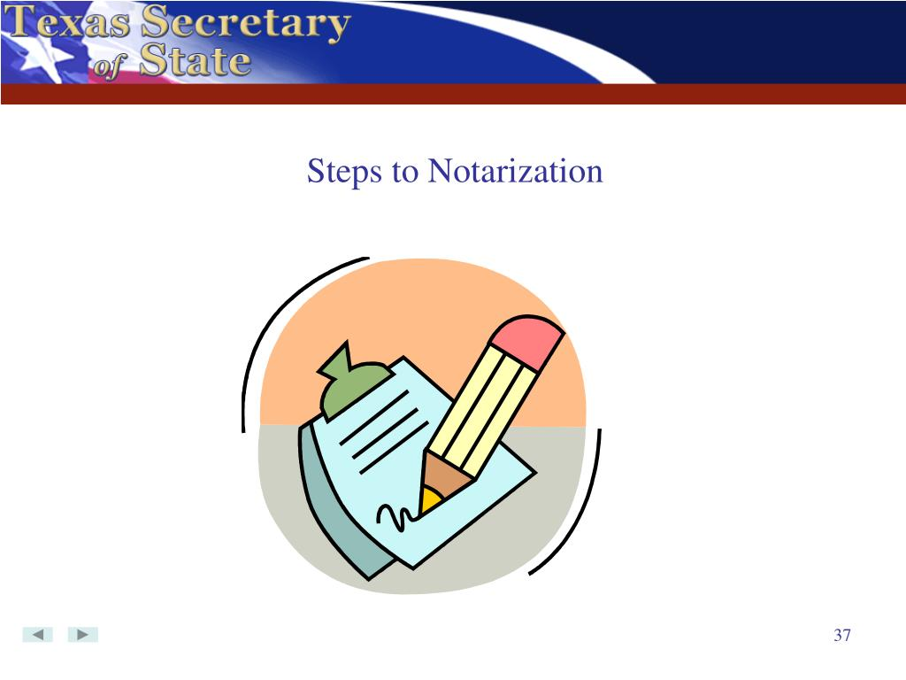 Steps to Notarization