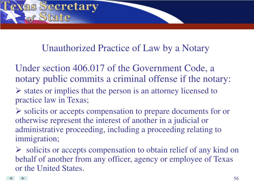 Unauthorized Practice of Law by a Notary