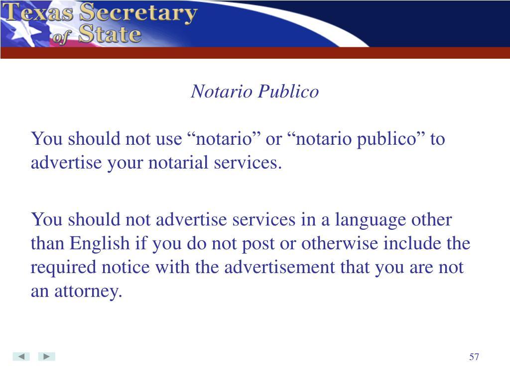 Notario Publico