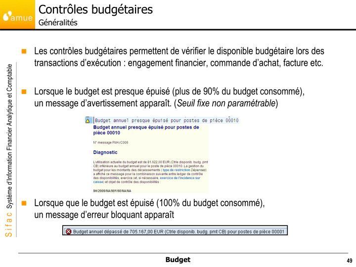 Contrôles budgétaires