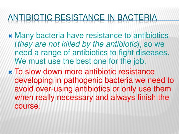 Antibiotic Resistance in Bacteria
