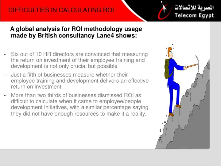 DIFFICULTIES IN CALCULATING ROI