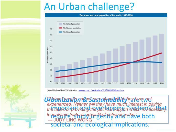 An Urban challenge?