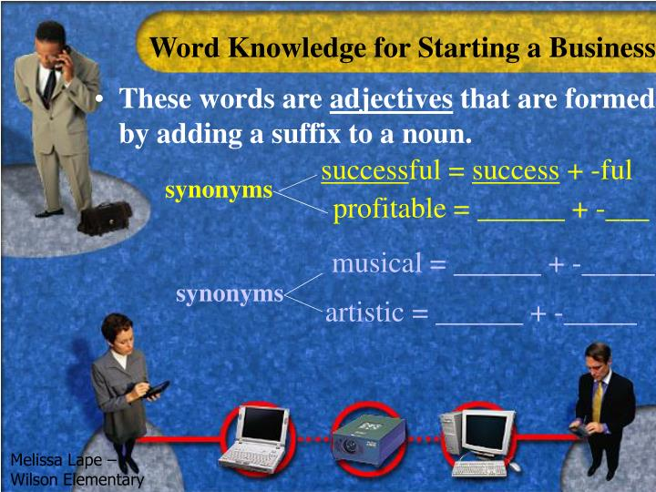Word Knowledge for Starting a Business