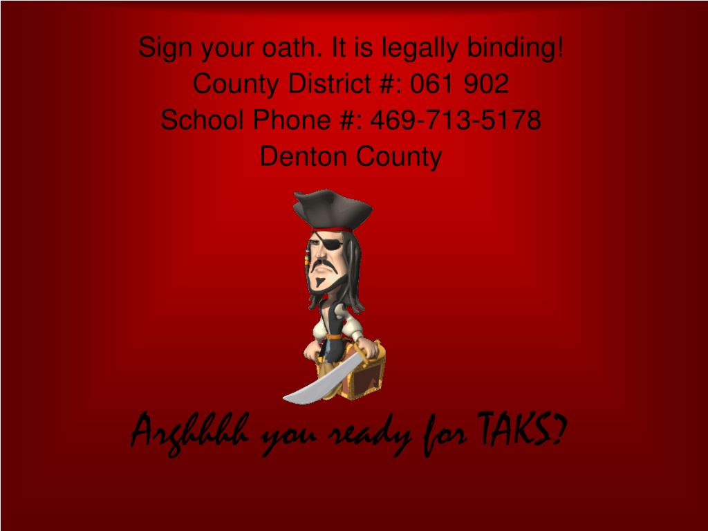 Sign your oath. It is legally binding!