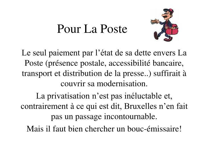 Pour La Poste