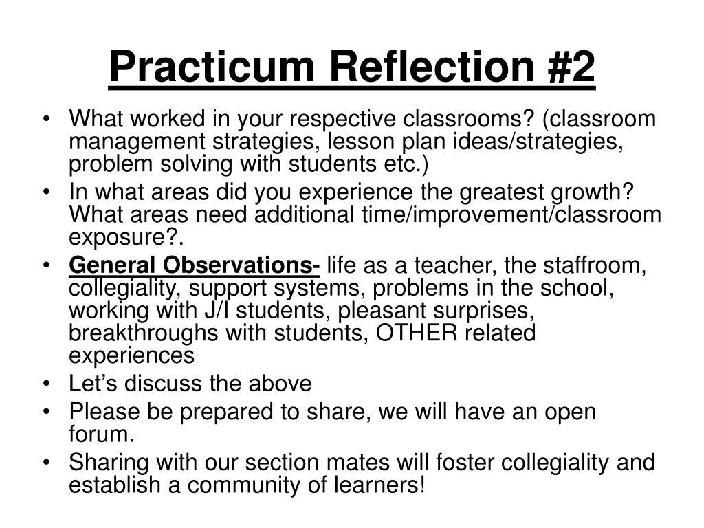 Practicum Reflection #2