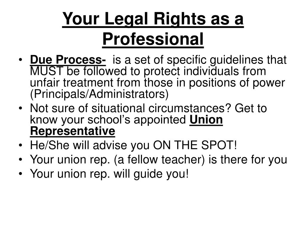 Your Legal Rights as a Professional