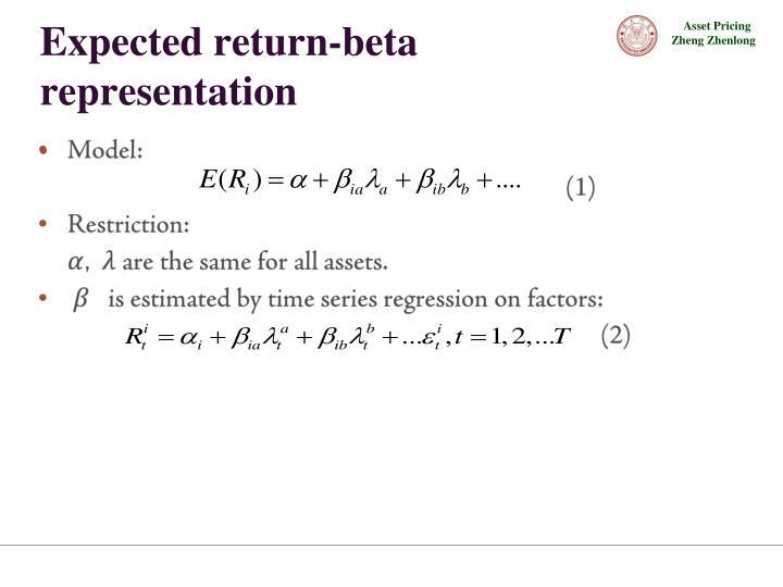 Expected return-beta representation