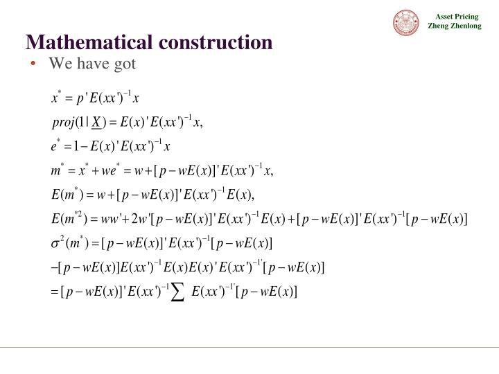 Mathematical construction