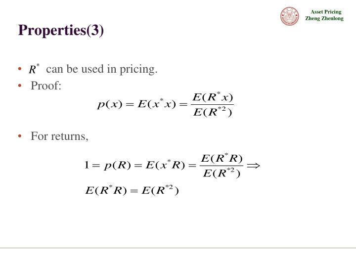 Properties(3)