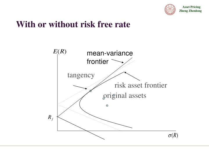 With or without risk free rate
