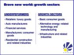 brave new world growth sectors