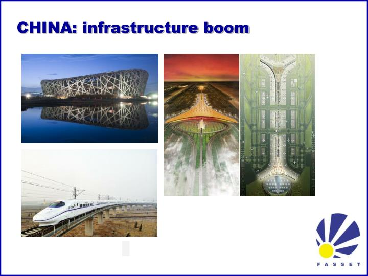 CHINA: infrastructure boom