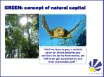 green concept of natural capital
