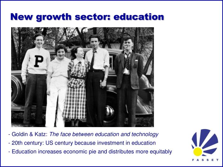 New growth sector: education
