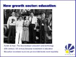 new growth sector education