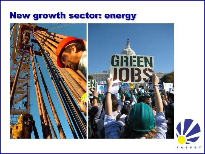New growth sector: energy
