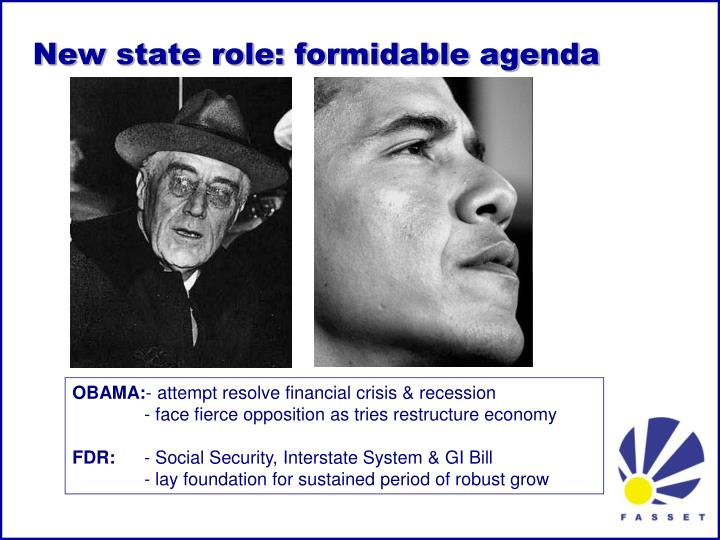 New state role: formidable agenda
