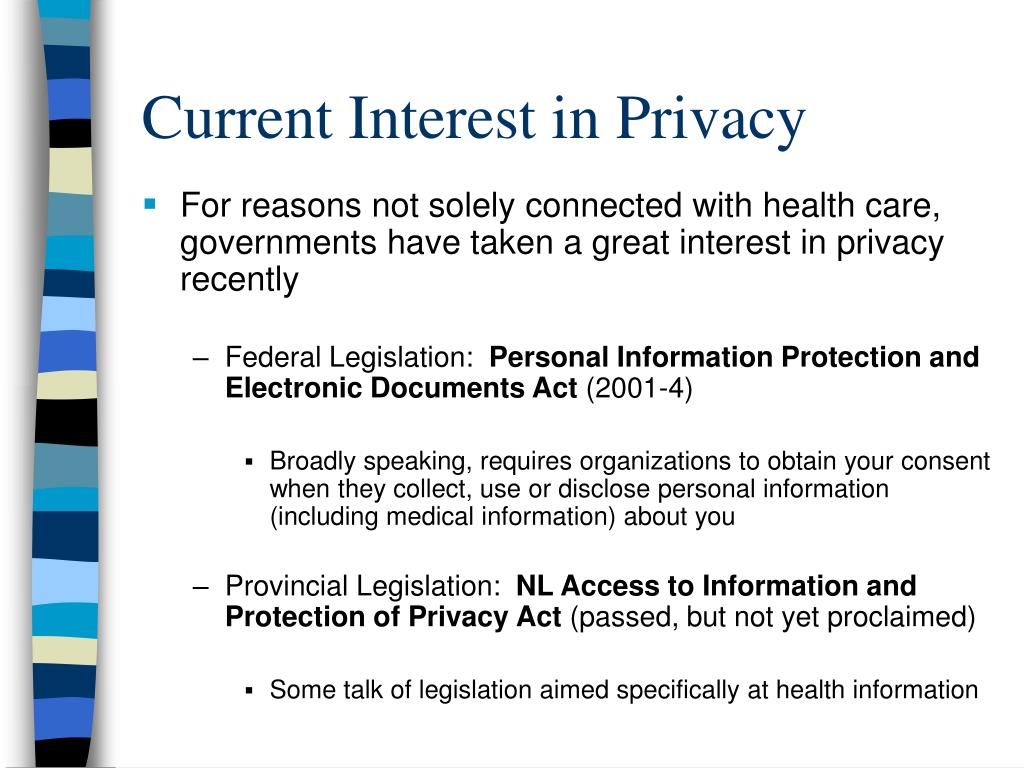 Current Interest in Privacy