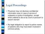 legal proceedings