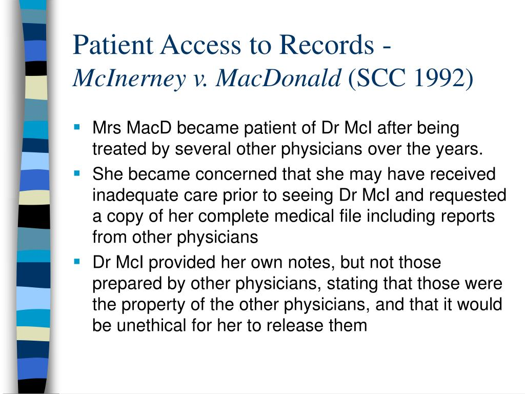 Patient Access to Records -