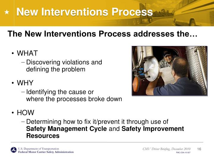 New Interventions Process