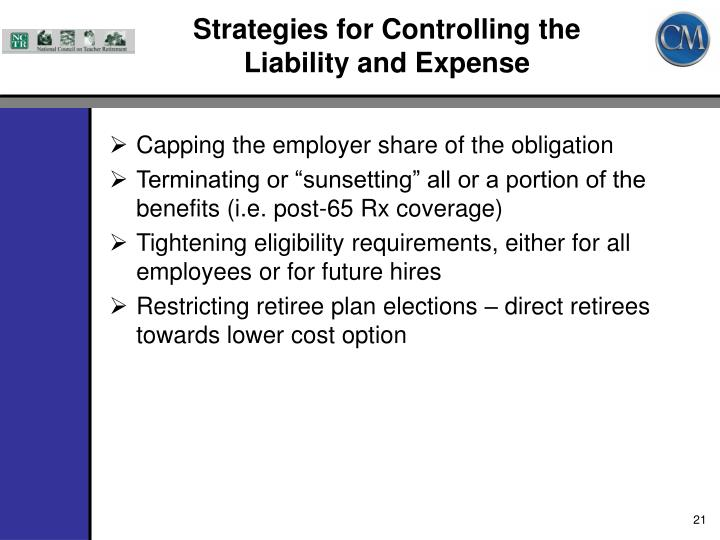 Strategies for Controlling the