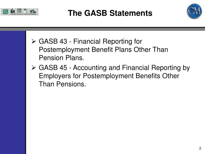 The gasb statements