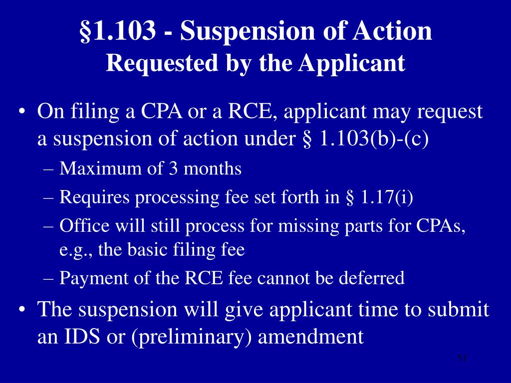§1.103 - Suspension of Action