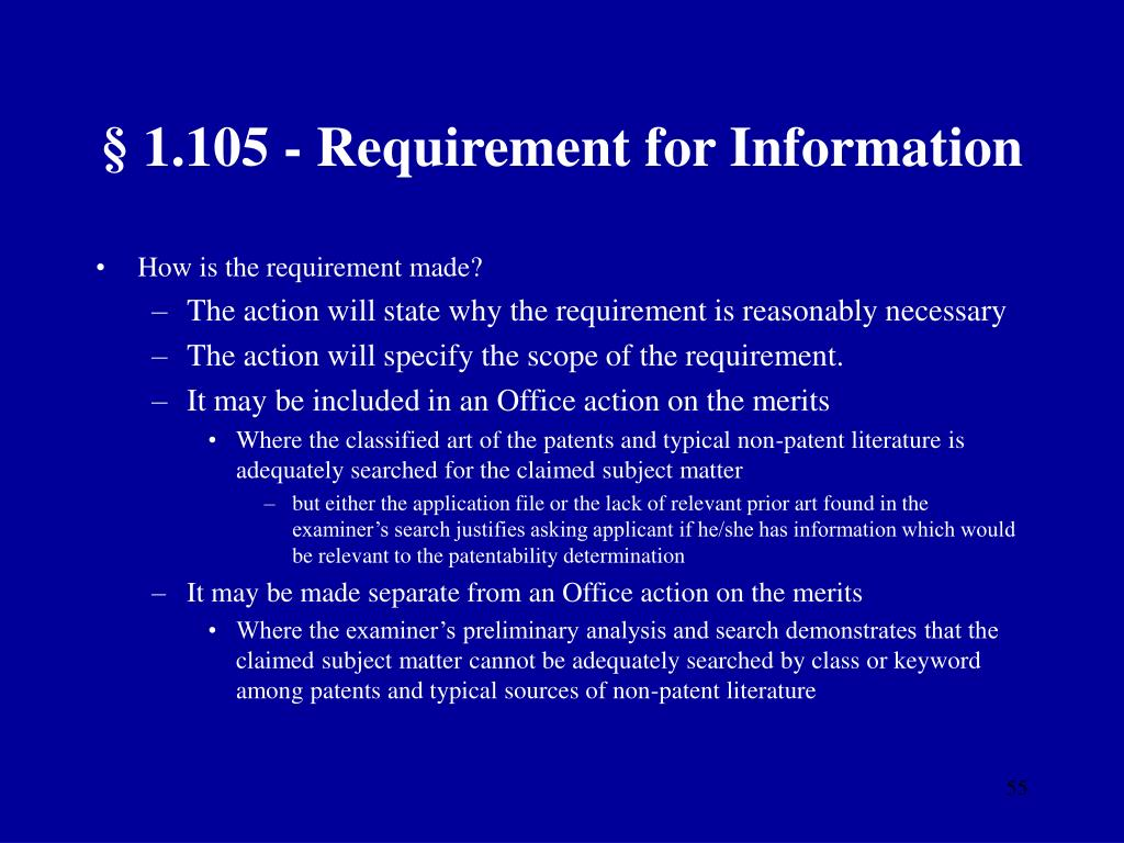 § 1.105 - Requirement for Information
