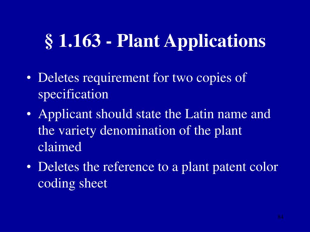 § 1.163 - Plant Applications