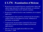 1 176 examination of reissue