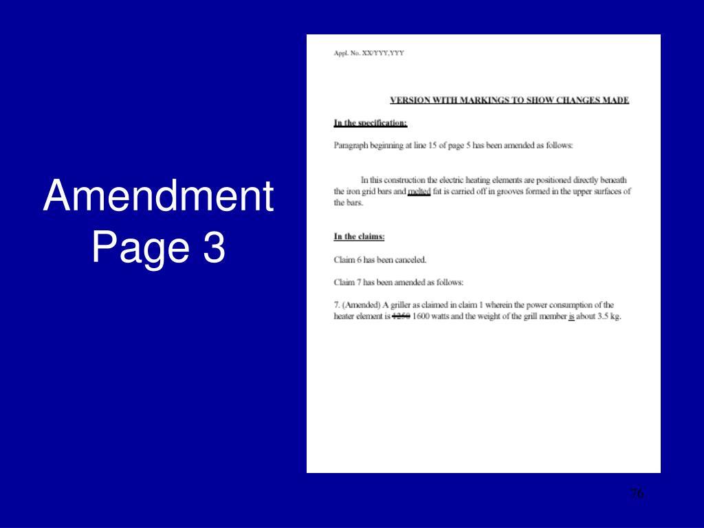 Amendment