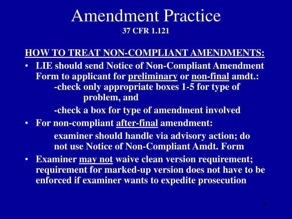 Amendment Practice