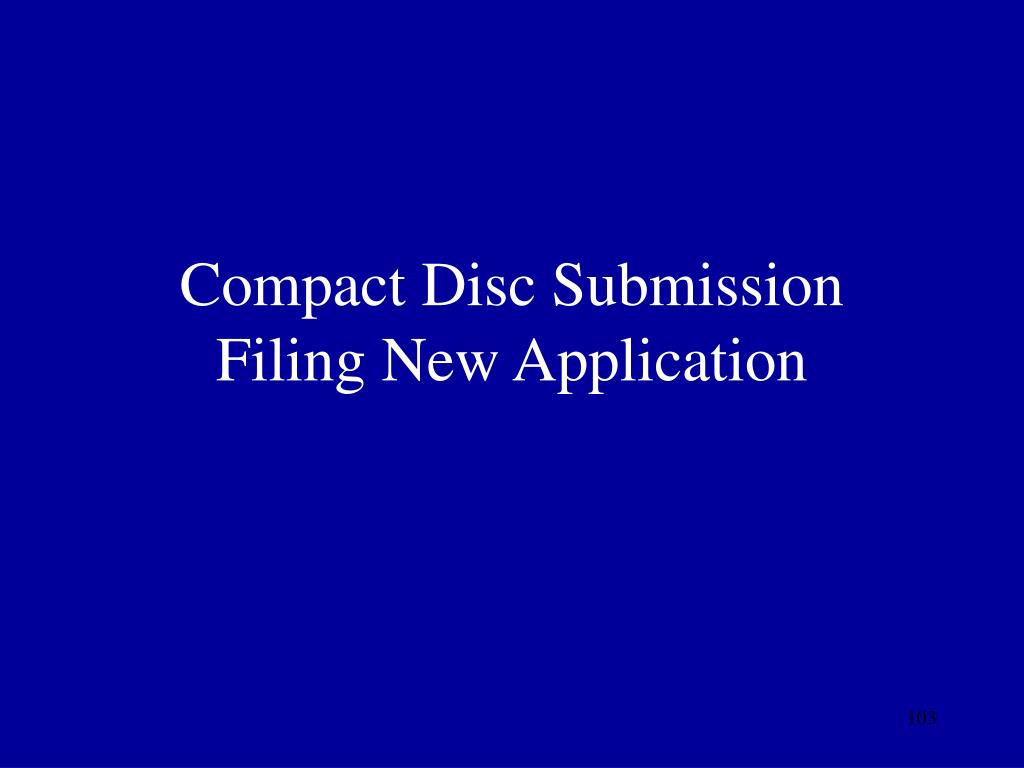 Compact Disc Submission