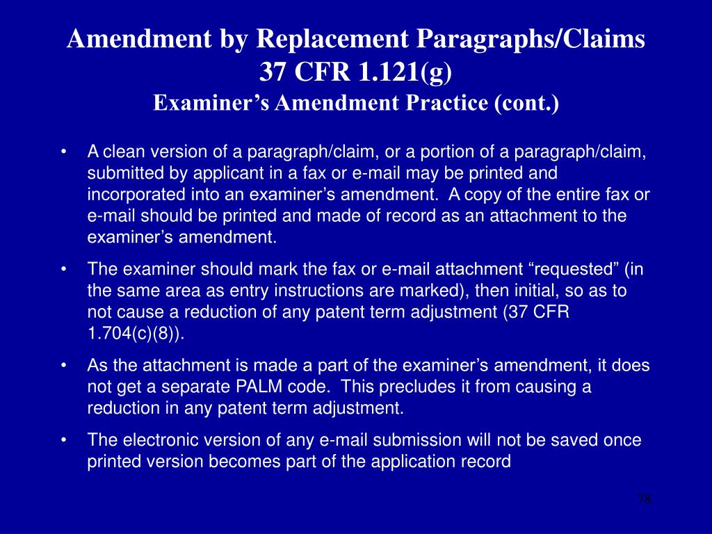 Amendment by Replacement Paragraphs/Claims