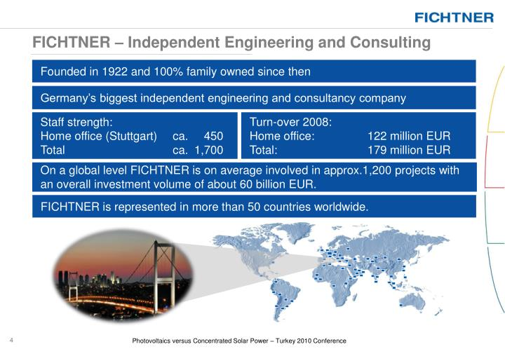 FICHTNER – Independent Engineering and Consulting