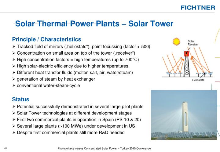Solar Thermal Power Plants – Solar Tower